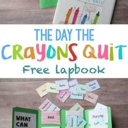 The Day the Crayons Quit FREE Lapbook