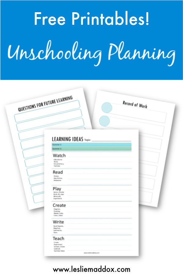 FREE Student-Directed Learning Printables