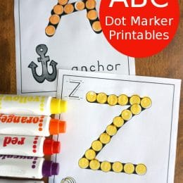 FREE Alphabet Dot Marker Pages