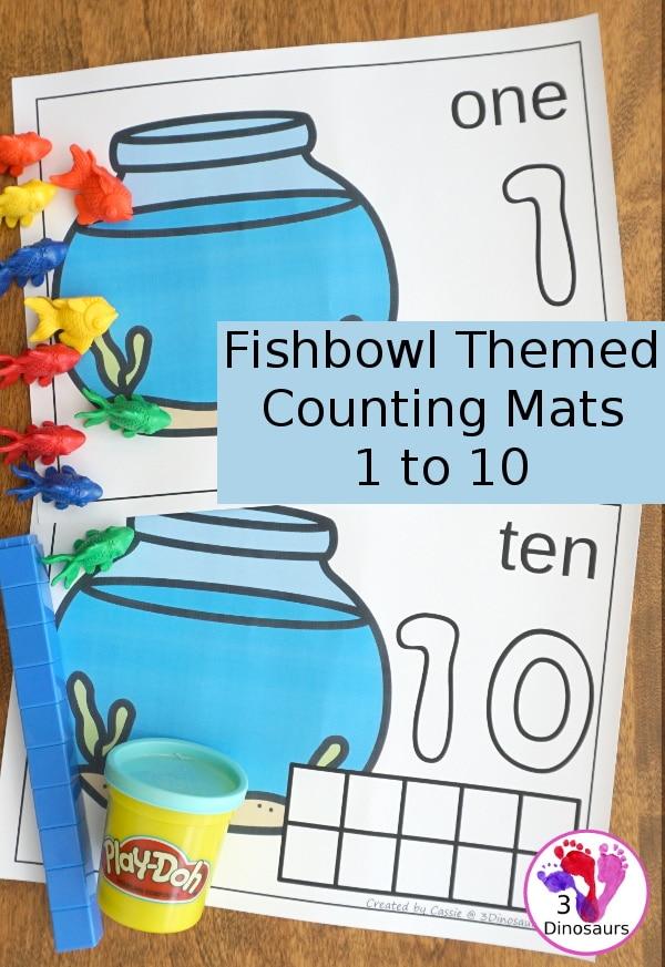 FREE Fishbowl Counting Mats + Ten Frames