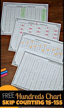 FREE Skip Counting with Hundreds Charts