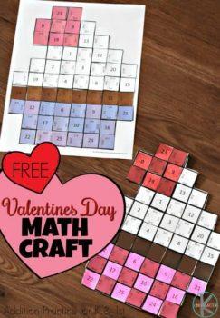 FREE Valentine's Day Math Craft