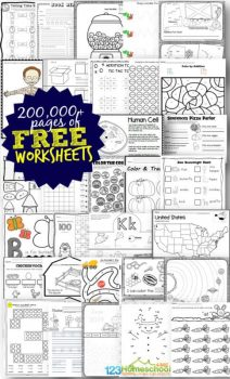 200,000+ FREE Worksheets on ALL Subjects!