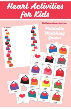 FREE Heart Activities for Kids: Printable Matching Games