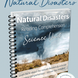 FREE Natural Disasters Reading Comprehension Science Unit