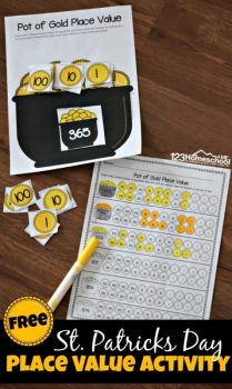 FREE St. Patrick's Day Place Value Activity
