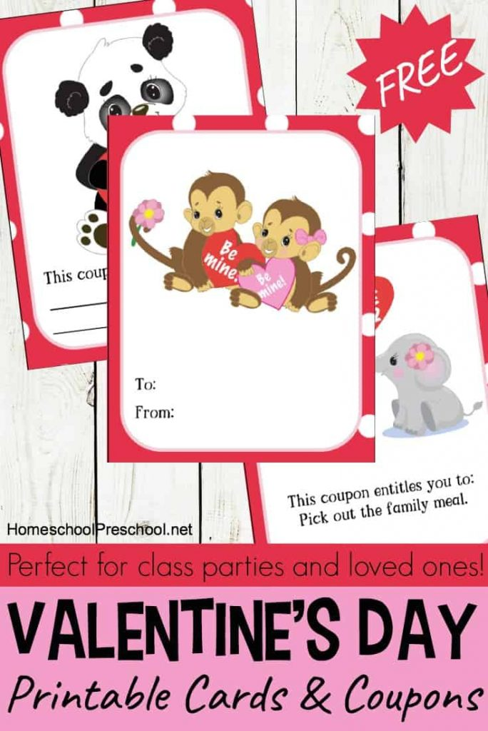 Animal-Themed Valentine's Day Cards