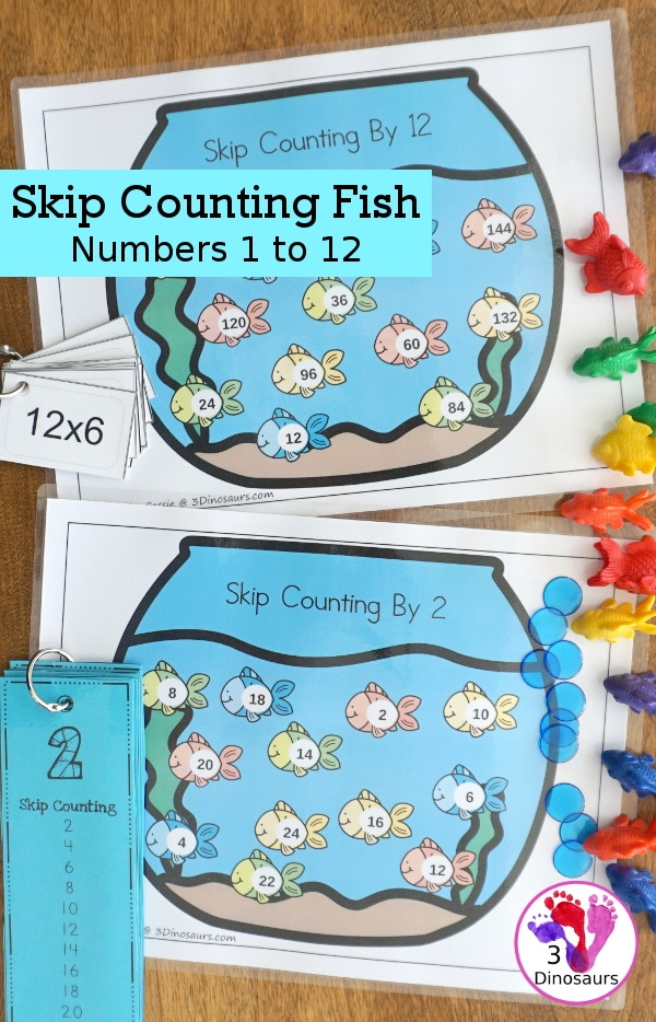 FREE Skip Counting Fish (by 1-12)