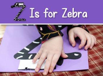 FREE Z is for Zebra Craft