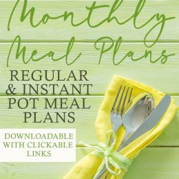 FREE April 2019 Meal Plans
