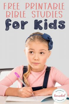FREE Printable Bible Studies for Kids