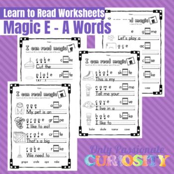 FREE Printable Magic E Worksheets: Long A