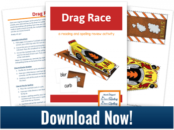 FREE Drag Race: A Reading/Spelling Review Activity
