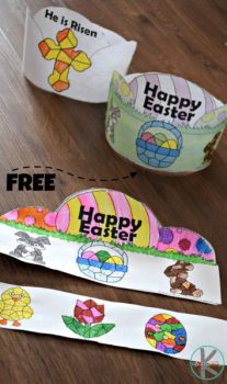 FREE Easter Color-by-Number Crowns