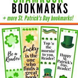 FREE Printable Shamrock Bookmarks