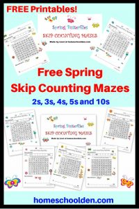 FREE Spring Skip Counting Mazes