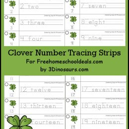 FREE Flower Number Tracing Strips Printable (Instant Download)