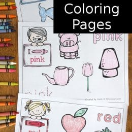 FREE Color Words Coloring Pages