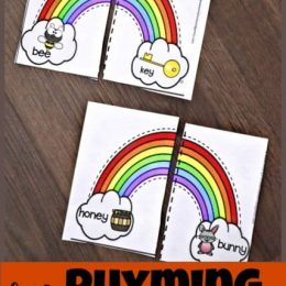 FREE Rhyming Rainbow Puzzles