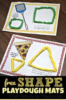 FREE Preschool Shapes Mats