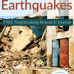 FREE Earthquakes Notebooking Research Journal