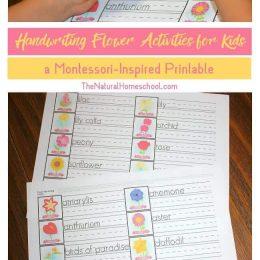 FREE Handwriting Flower Activities