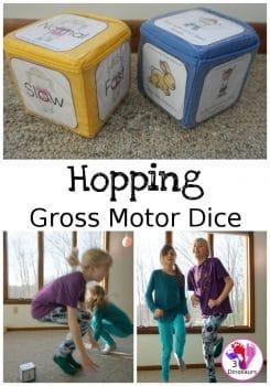 FREE Hopping Gross Motor Dice