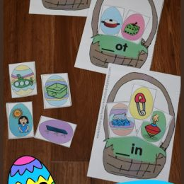 FREE Easter Egg Word Families Activity