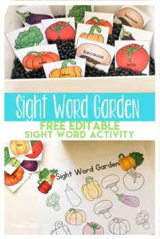 FREE Sight Word Garden