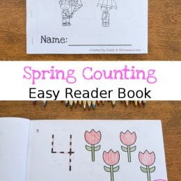 FREE Spring Counting Easy Reader