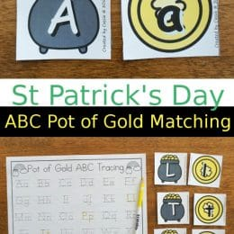 FREE Pot of Gold Letter Matching Activity