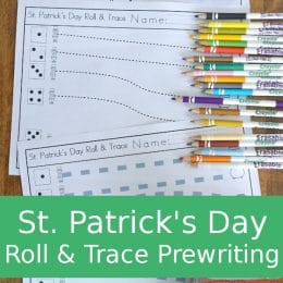 FREE St. Patrick's Day Roll & Trace Prewriting Activity
