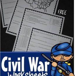 FREE Civil War Worksheets