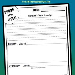 FREE Verse of the Week Printable