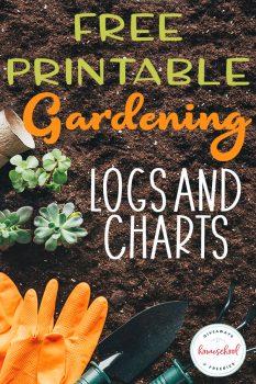 FREE Gardening Logs & Charts