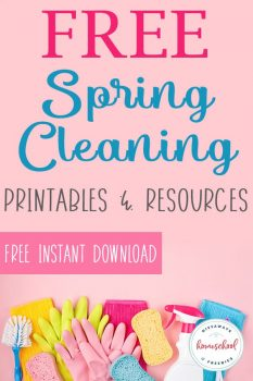 FREE Spring Cleaning Printables & Resources