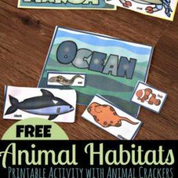FREE Animal Habitats Activity