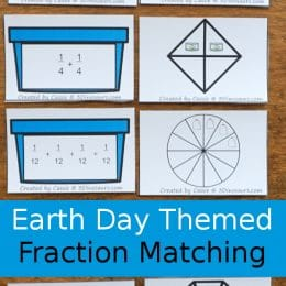 FREE Recycling-Themed Fraction Matching Cards