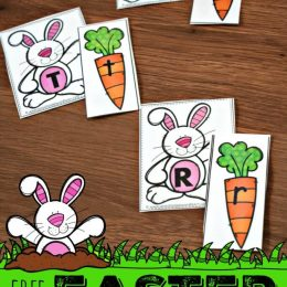 FREE Easter Letter Matching Cards