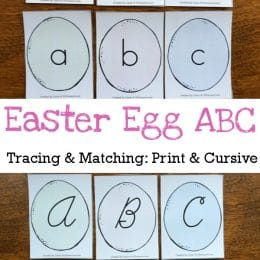 FREE Easter Egg Letter Tracing & Matching