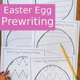 FREE Easter Egg Prewriting Practice