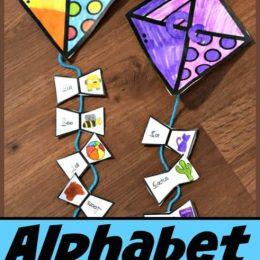 FREE Alphabet Kites