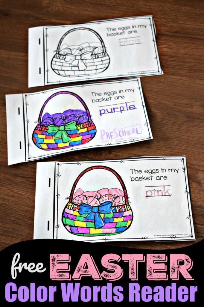 FREE Easter Color Words Reader