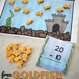 FREE Goldfish Subtraction Game