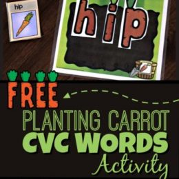 FREE Planting Carrot CVC Words Activity
