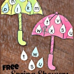 FREE Spring Showers Letter Matching