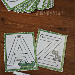 FREE Uppercase Letter Tracing Cards