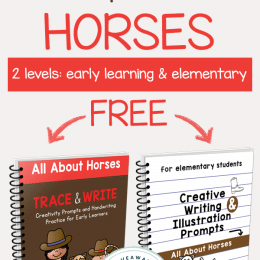 FREE Horse-Themed Creative Writing Prompts (2 levels!)