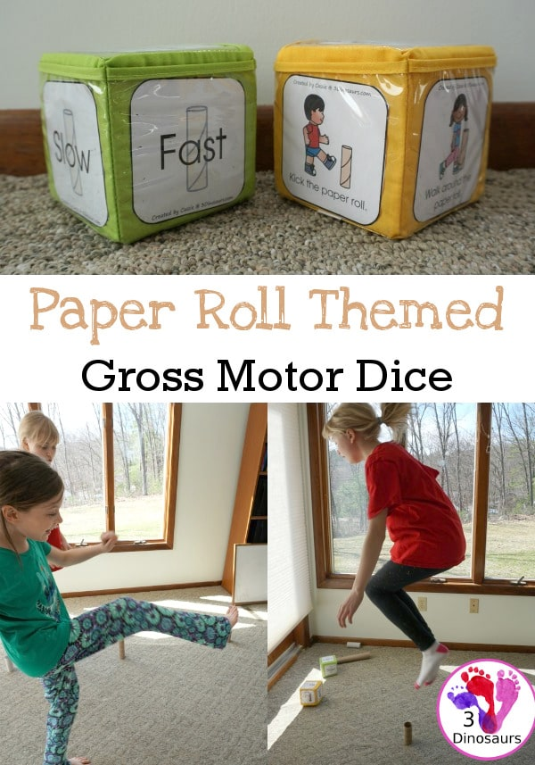 FREE Paper Roll Gross Motor Dice
