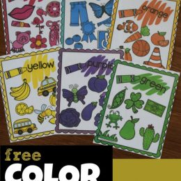 FREE Printable Color Words Flashcards